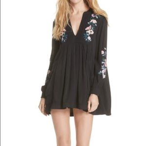 Free People Mia Embroidered Minidress